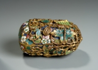 A Chinese gilt bronze and champleve enamel box Qing dynasty Qianlong period Works of Art and Antiques from China
