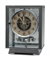 M200 Chrome  plated art deco J. L. Reutter five-glass Atmos clock