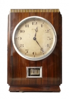 M154 Wooden Atmos clock, coromandel veneers, J.L. Reutter,model LG I,No 617, France circa 1930.