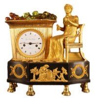 M04 French gilt and patina mantel clock