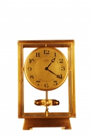 M195 Grote verguld bronzen Atmos klok, Reutter no 6259, 4 glazen, Frankrijk