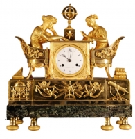 M63 French mantle clock 'La leçon d'Astronomie'