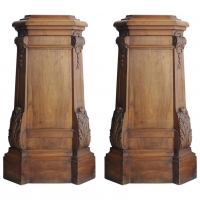Pair of Walnut pedestals