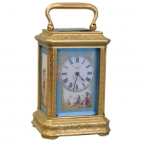 A good mid 19th century miniature carriage clock, by Drocourt