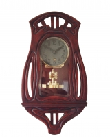 W44 Art Nouveau torsion pendulum wall clock
