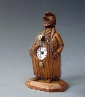 Zappler klok, mascotte figuur, miniatuur klok, 'Neuburger & Sohnen à Paris',  circa 1880.