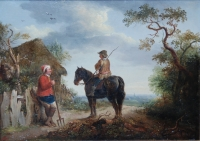 P12 Rural scene with peasant and horseman