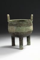 Chinees Archaisch bronzen Ding met taotie maskers, Shang Dynastie antiek brons China
