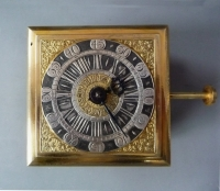 Horizontal table clock / Tischuhr, signed Ferdinand Engelschalk, Prague., circa 1700.
