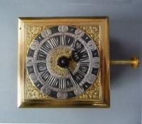 Horizontal table clock / Tischuhr, signed Ferdinand Engelschalk, Prague., circa 1700.