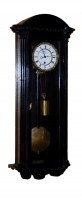 V04 Miniature ebonized Vienna Wall Clock 8 days duration