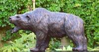 Standing Silvertip Bear