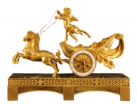 M22 Gilt pendulum clock with putti and horses