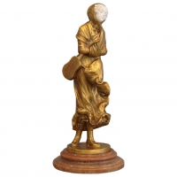 A charming ormolu 'Art Nouveau' bronze figure, signed Alonzo, circa 1890