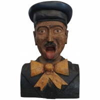 An early 19th-century Dutch wood carved folk art painted figurehead