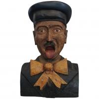 An early 19th-century Dutch wood carved folk art painted figurehead
