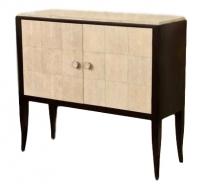 F03 Art Deco/Jean Michel Frank style cabinet shagreen panels