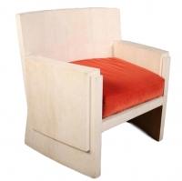 F01 R & Y Augousti Chair Art Deco/Jean Michel Frank style shagreen panels