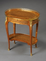 A French Transitional Small Oval Writing Table,  Nicolas Petit I, ca. 1770