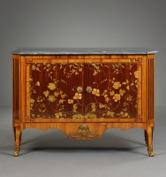 Dutch Transition Commode with Marquetry