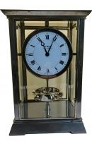 M226 Nickel art deco style J.L. Reutter Atmos four-glass atmos clock, tall version