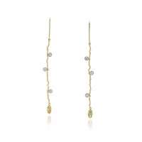 Earrings with champagne colored diamonds - Sabine Eekels