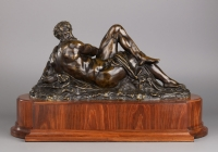 French bronze Sculpture depicting The Day after Michelangelo