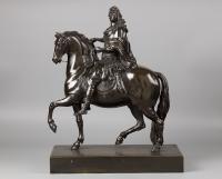 Equestrian Statue of Louis XIV,after Martin van den Bogaert alias Desjardins, ca. 1730