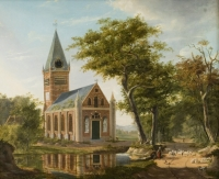 Garden near Leiden, Holland, 1828
