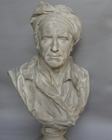 Plaster bust of Nicolas Coustou