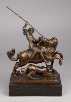 Mounted Turk on Lion Hunt, Francesco Fanelli (1577-after 1657?)