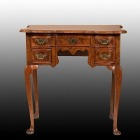 A Louis XV Burr-Walnut Side Table