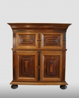 Dutch cabinet with four doors, about 1700 - 1725.