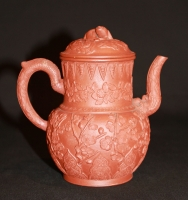 Yixing ware antique Chinese earthenware teapot, Kangxi Period