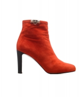 Hermès Red Suede Leather Ankle Boots