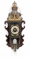 An early 18th century Zaandam wall clock with jaquemart, by Jan Koogies, Wormermeer