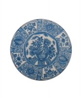 A Dutch Delft Charger with 'Wanli Decoration'