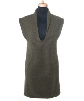 Chanel Green Cashmere Sweater Dress 08C