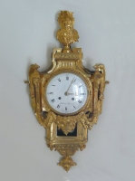 very fine Lou A very fine gilt bronze cartel clock, d'époque Louis XVI , mascaron, by Gérard à Ste Menehould, France  circa 1780.is XVI gilt bronze cartel clock, by Gérard à Ste Menehould, France  circa 1780.