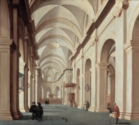 A Church Interior - Daniel de Blieck