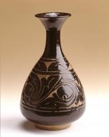 Chinees aardewerk Cizhou ware vaas, Song dynastie keramiek uit China