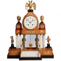 "German Louis XVI inspired mantel clock signed  ""Franze Leuwer Bremen""."