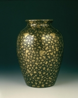 Chinese bronze vase with gold splash design, Qing Bronze Art from China