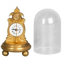 A very small and unusual Austrian zappler miniature clock, circa 1860