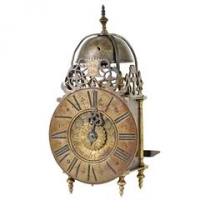 A small French Lantern Clock by Regnault à Paris, circa 1730