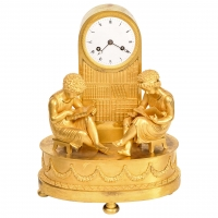 An attractive French 'Empire' ormolu mantel clock, circa 1820