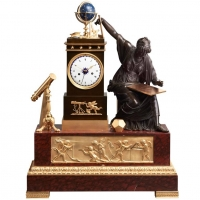 Highly impressive Empire Urania Mantel clock
