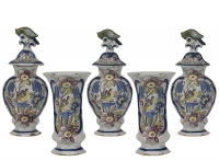 Five-Piece Mantel Garniture