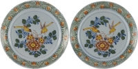A Pair of Dishes in Polychrome Dutch Delftware