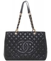Chanel Black Caviar GST Grand Shopping Tote GHW